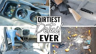 Download Cleaning The Dirtiest Car Interior Ever! Complete Disaster Full Interior Car Detailing A Ford Escape Video