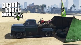 Download GTA 5 - Mudding & Hauling Four Wheeler With Old Ford Truck Video