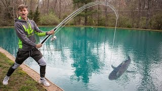 Download FISHING FOR SHARK IN POND!! (CAUGHT IT) Video