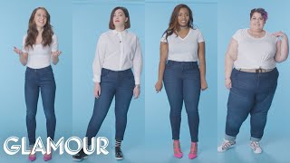 Download Women Sizes 0 Through 28 Try on the Same Jeans | Glamour Video
