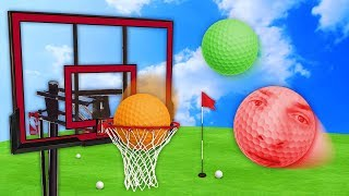 Download ULTIMATE GOLF BALL SLAM DUNK! (Golf With Friends) Video