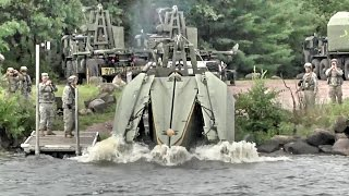 Download Army Engineers Build Floating Bridge – Multi-Role Bridge Company Video