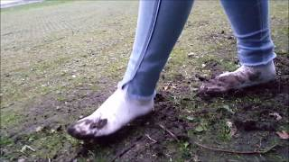 Download Celina: White socks in mud (part 3 of muddy socks and shoes series) Video
