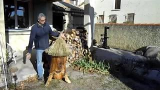Download fabrication d'une ruche tronc, brusc Video