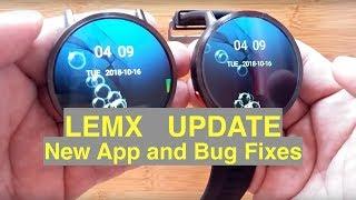 Download LEMFO LEMX Android 7.1.1 IP67 Waterproof Smartwatch Update: Bug Fixes & New Features Video