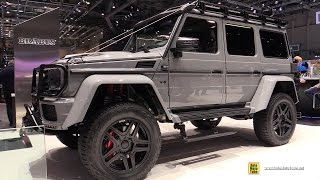 Download 2017 Mercedes G500 4x4 Squared Brabus 550 Adventure - Walkaround - 2017 Geneva Motor Video