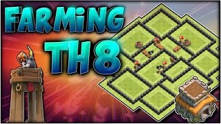 Download Diseño de Farming TH8 + REPLAYS | Torre Bombardera | Best Th8 Farming Base with Bomb Tower Video
