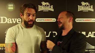 Download Post-Fight interview with Aaron Chalmers at BAMMA 31 Video