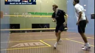 Download Squash - Karim Darwish vs Nick Matthew Saudi International 2008 Part 1 Video