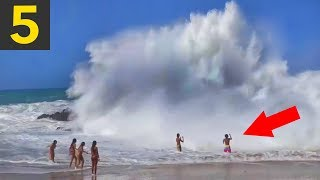 Download Top 5 SCARY Beach Waves - Run! Video