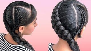 Peinados Faciles Para Cabello Largo Bonitos Y Rapidos Con Trenzas