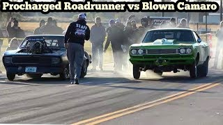 Download Procharged RoadRunner vs Blown Camaro at Streets of Wagoner Oklahoma Video
