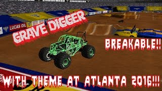 Download Rigs Of Rods Monster Jam Monster Truck Grave Digger 23 (Breakable) With Theme At Atlanta 2016!! Video