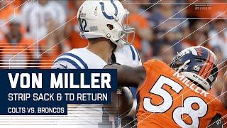 Download Von Miller's Strip Sack Returned for TD! | Colts vs. Broncos | NFL Video