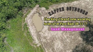 Download 2 NEW Watering Holes after first Rain! Will they hold water? 08-13-17 Video