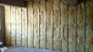 Download гипсокартон, обшивка стен (2 слоя), монтаж + каменная вата. Plasterboard Wall and mineral wool. Video