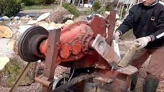 Download 10 Dangerous Homemade Automatic Firewood Processing Machine, Modern wood splitting machine #2 Video