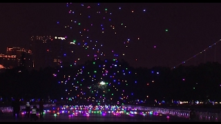 Download 1,000 drones glittering in sky for Chinese lantern festival set Guinness record Video