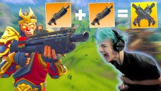 Download DOUBLE HEAVY SHOTGUN NEW META!! NINJA TROLLING A NOOB! | Fortnite Highlights & Funny Moments #15 Video