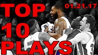 Download Top 10 NBA Plays of the Night | 01.21.17 Video