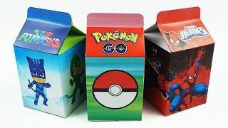 Download Learn Numbers 1 to 10 with Milk Carton Surprise Toys, Pokemon Go, Pj Masks, Spiderman Video