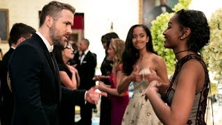 Download Sasha and Malia Obama Share an Epic Moment Fangirling Over Ryan Reynolds Video