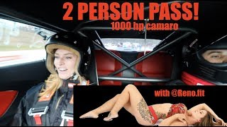 Download Taking a passenger for a RIDE in my 1000hp CAMARO at the TRACK! Video