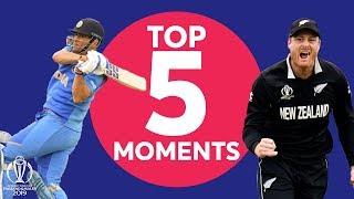 Download Guptill? Neesham?   India v New Zealand - Top 5 Moments   ICC Cricket World Cup 2019 Video