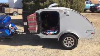 Download Living Simply: Motorcycle Pulling Teardrop Trailer Home Video