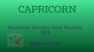 Download CAPRICORN NOVEMBER 2019 MONTHLY TAROT READING Video