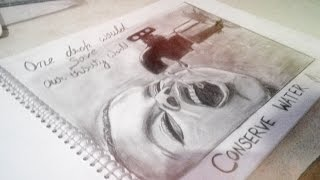 Download drawing on water scarcity | motivational drawing vide. Video