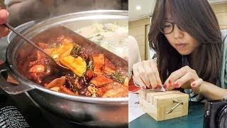 Download AYCE Korean Buffet & Hand-carving My Name Stamp in Insadong, South Korea Video