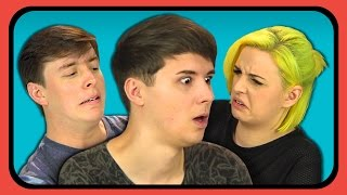 Download YOUTUBERS REACT TO DON'T HUG ME I'M SCARED 6 Video