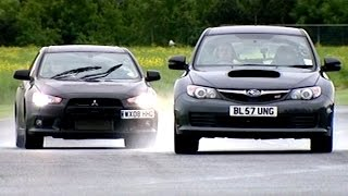 Download Mitsubishi Evo X FQ360 vs Subaru Impreza WRX STi #TBT - Fifth Gear Video