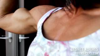 Download Female Muscle: Incredible Biceps on a Bikini Competitor Video