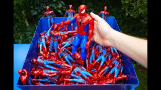 Download SHREDDING 100 SPIDERMAN TOY FIGURES! Video