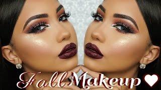 Download Fall Dark Burgundy Makeup Tutorial Video