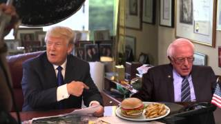 Download Bernie doesn't share food - Sanders scares Trump Round II Video