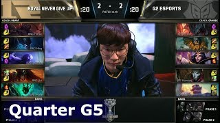 Download RNG vs G2 Game 5 | Quarter Final S8 LoL Worlds 2018 | Royal Never Give Up vs G2 eSports G5 Video
