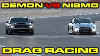 Download Dodge Demon vs Nissan GT-R Nismo Drag Racing at Speed Vegas Video