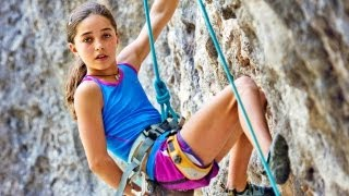 Download 11-Year-Old Girl Shatters Climbing Records Video