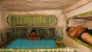 Download Dig Hole Under Wood roots To Build House & Add Bathtub Pool In House Video