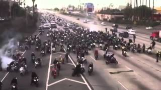 Download Biker proposes a girl while blocking a highway Video