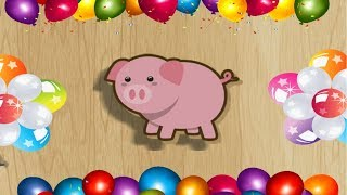 Download Funny Baby puzzle kids games & learn animals puzzle Song melody Mary Had A Little Lamb for kids Video