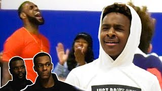 Download Bronny Jr Plays In Front of LEBRON, Rondo & Lance! Bronny & Big Man TOO MUCH For Middle School Ball! Video