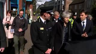 Download Theresa May visits Salisbury nerve agent site Video