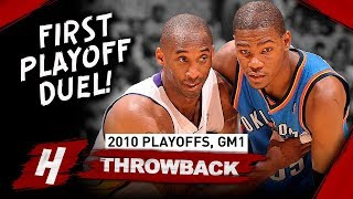 Download Kobe Bryant vs Kevin Durant FIRST EVER PLAYOFF Duel, Game 1 Highlights 2010 NBA Playoffs - EPIC! Video