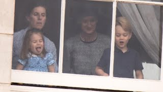 Download Princess Charlotte and Prince George Steal the Show During Royal Flypast Video