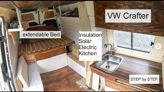 Download Full Van Conversion of a VW Crafter / DIY Campervan / Vanbuild for Couple + Dog Video
