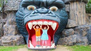 Download Ali and Adriana Pretend Play in the Amusement Park! Family Fun Adventure Video